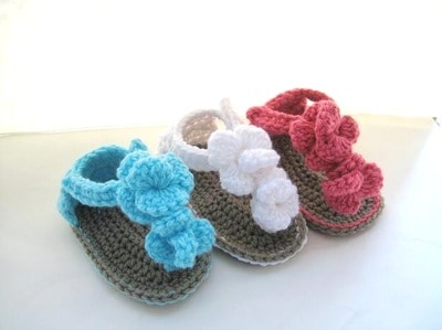 Orchid Sandals for Baby- 0-12 months- $5.50