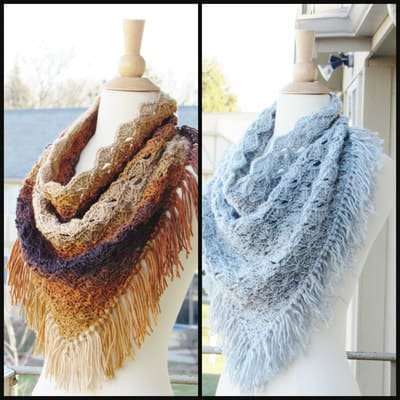 Celestia Triangle Cowl- Toddler, Child and Adult- $5.50
