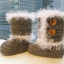 Toddler Furry Boots-, Sizes 5 to 8 - $5.50