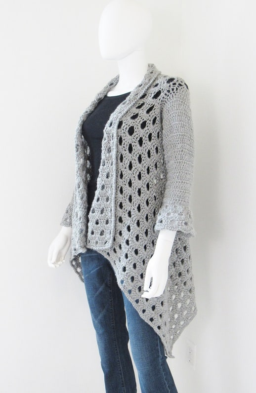 Lacy Crochet Cardigan Pattern- Easy enough for beginners- Try today!