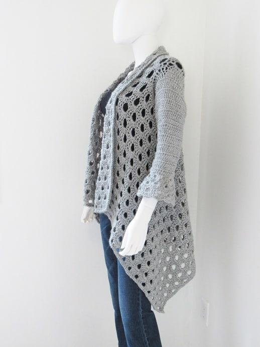 Bell Sleeve Crochet Cardigan