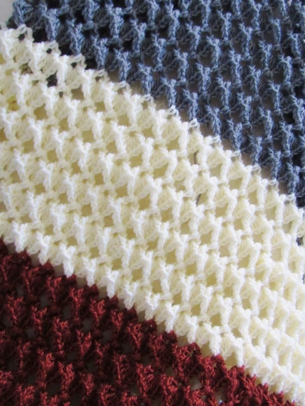 Closeup of Blanket Stitch Pattern
