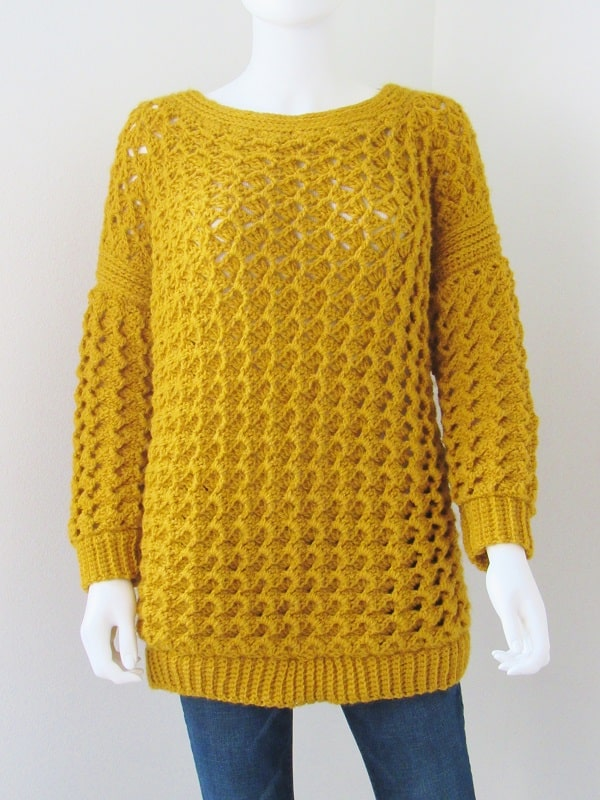 Crochet Sweater Pattern Textured Pullover Crochet Dreamz