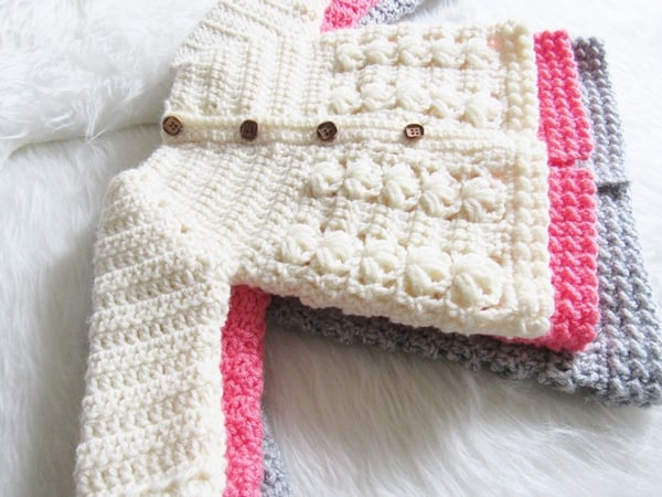 Textured Crochet Baby Sweater Pattern Crochet Dreamz