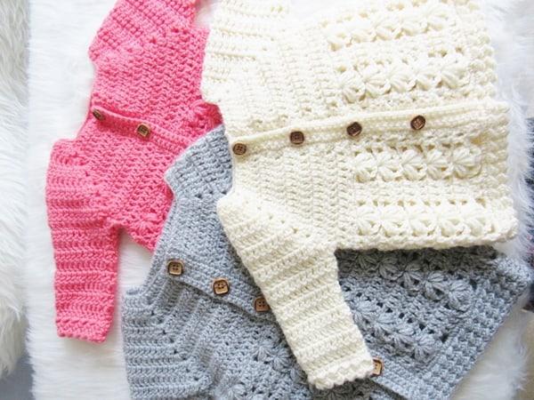 Textured Crochet Baby Sweater Pattern Crochet Dreamz