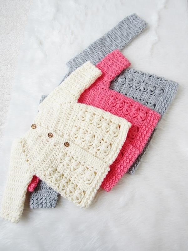 5dfb07710 Textured Crochet Baby Sweater Pattern - Crochet Dreamz