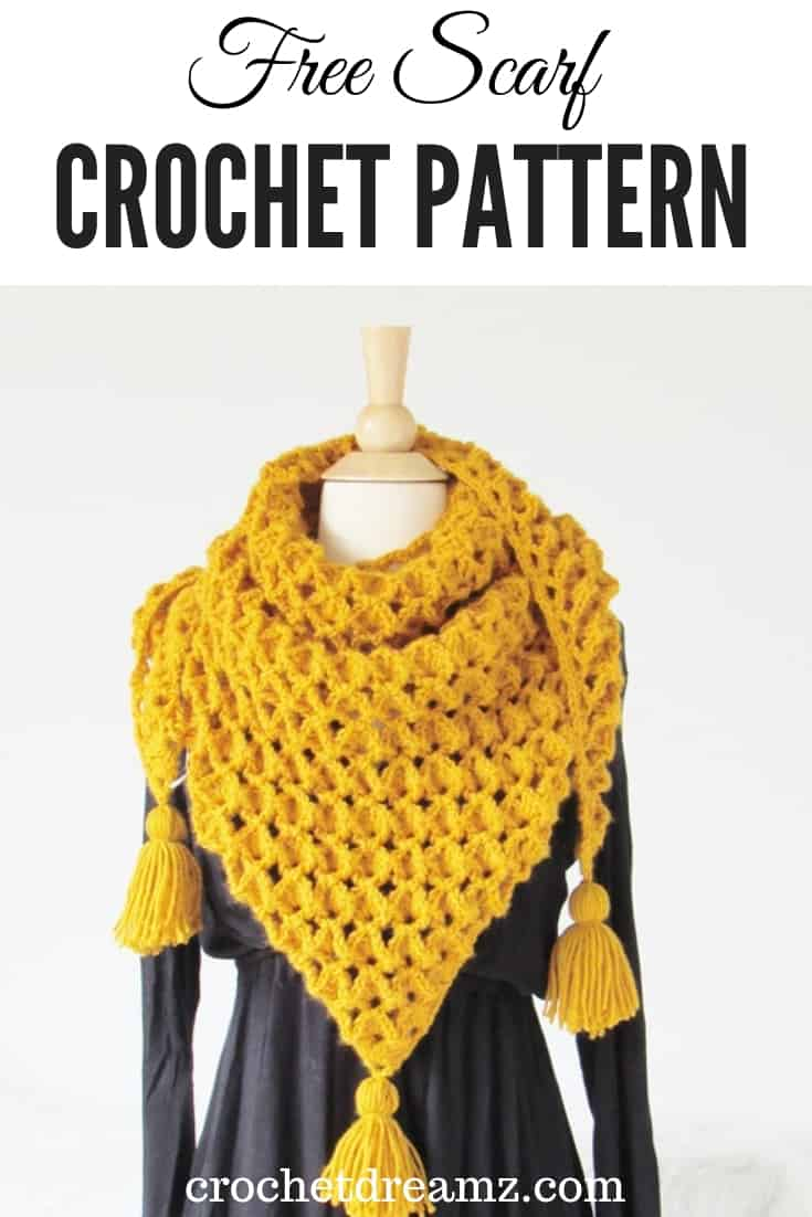 Make this crochet scarf to add to your fall or winter wardrobe. The crochet stitch has a textured 3D look. Try making one today.