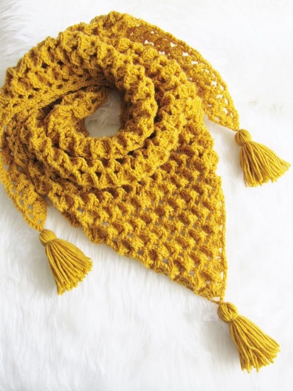 Crochet Scarf Patterntextured Crochet Dreamz