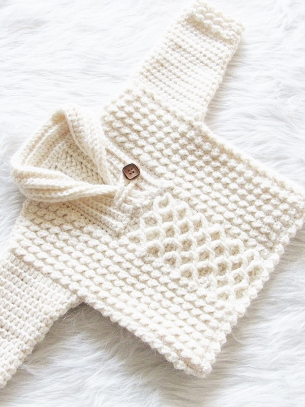 4a446394b Textured Crochet Baby Boy Sweater - Crochet Dreamz