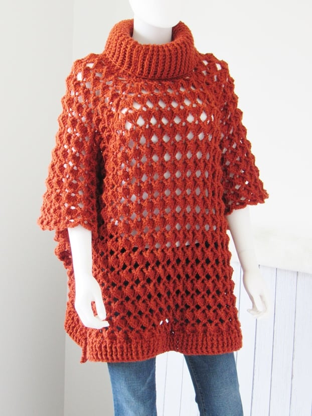 Easy Crochet A Poncho Pattern Crochet Dreamz