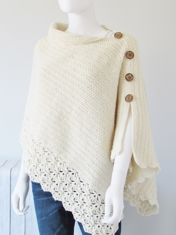 Crochet Poncho Side View