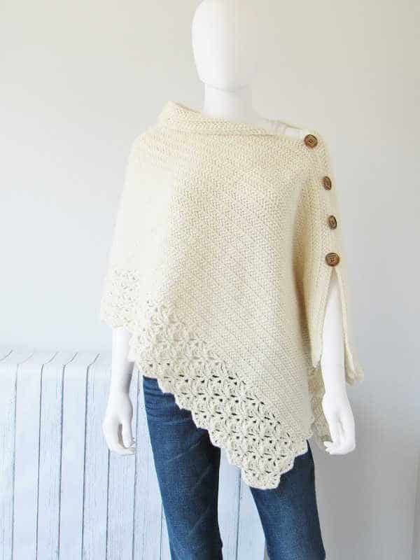 Crochet Poncho Front View