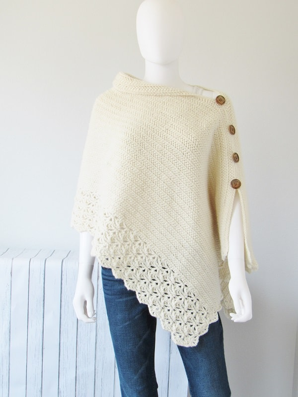 Knit-Look Poncho