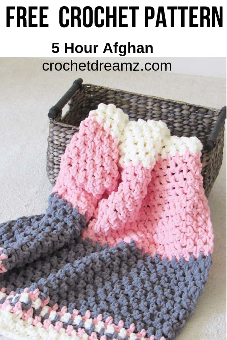 Make this squishy crochet baby blanket in under 5 hours.