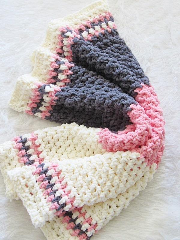 Free Crochet Baby Blanket Pattern Crochet Dreamz