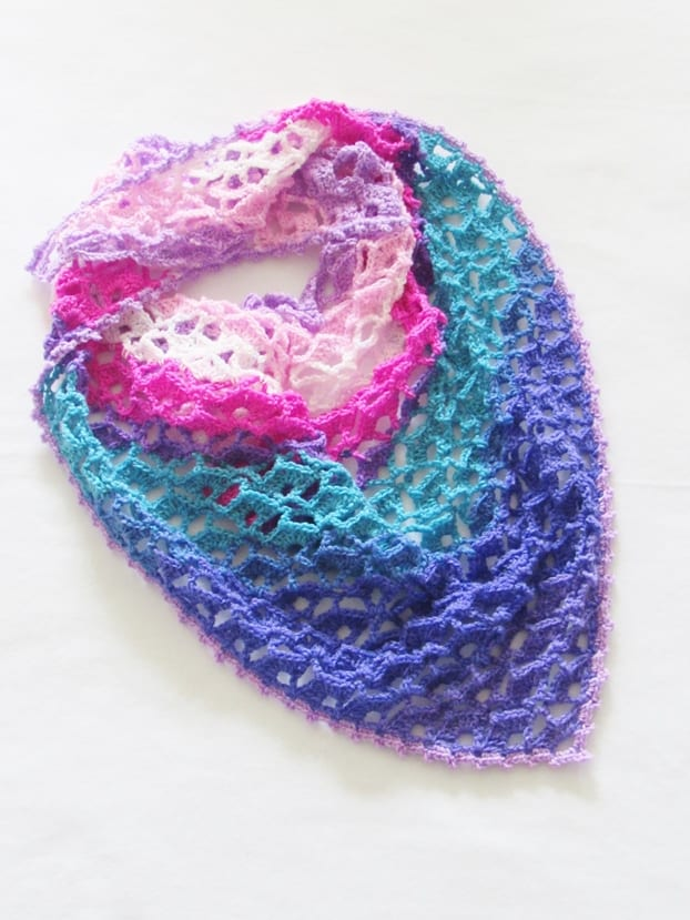 Crochet Shawl Pattern for Spring, Takes Just 1 Skein - Crochet Dreamz