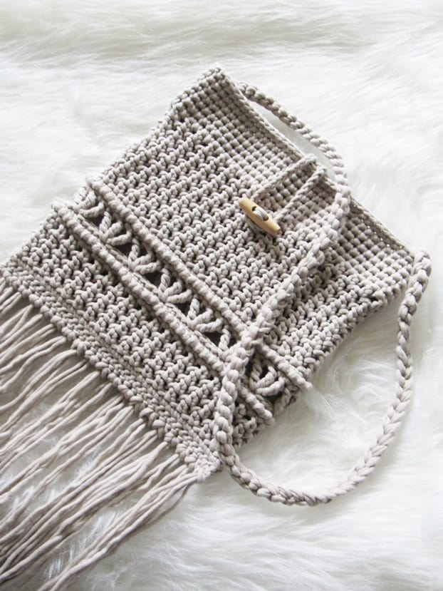 Free Crochet Bag Pattern One Skein Boho Bag Crochet Dreamz