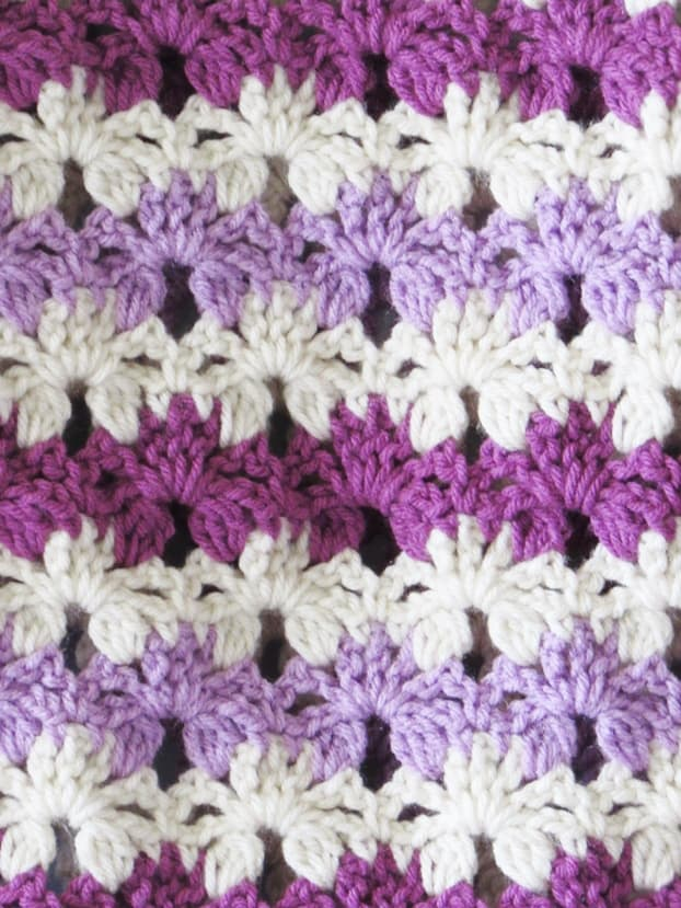 A crochet blanket stitch that is gorgeous and easy to work.