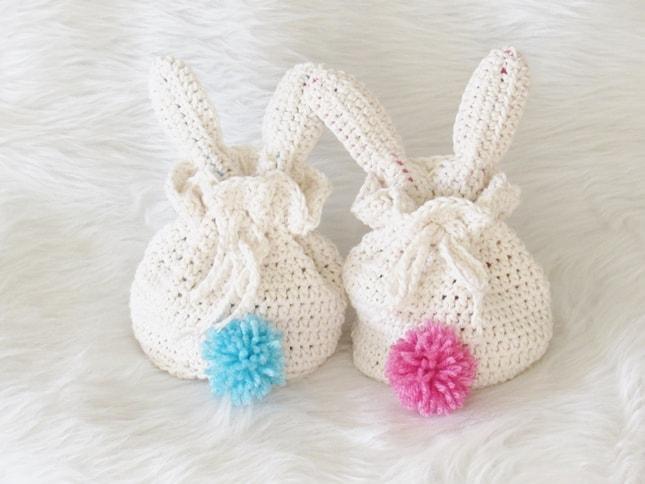Crochet Bunny Treat Bag, Easy Pattern - Crochet Dreamz