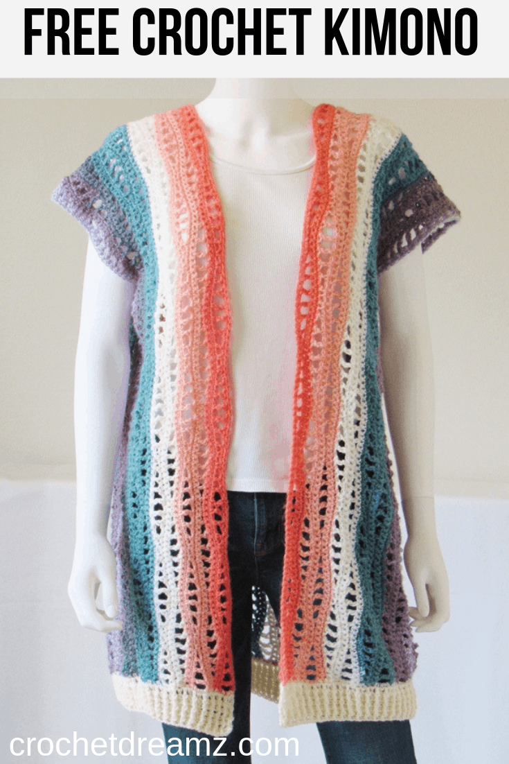 Try this free crochet kimono pattern designed with the gorgeous Lionbrand Mandala yarn. This will be a perfect layering piece for spring and summer.