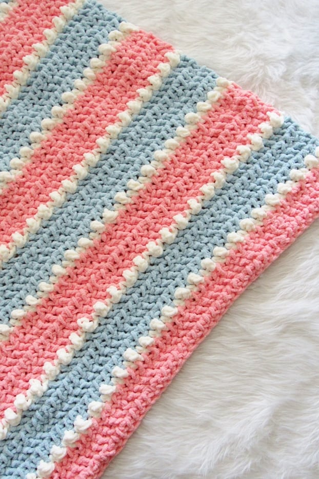 Texture of the Crochet Baby Blanket