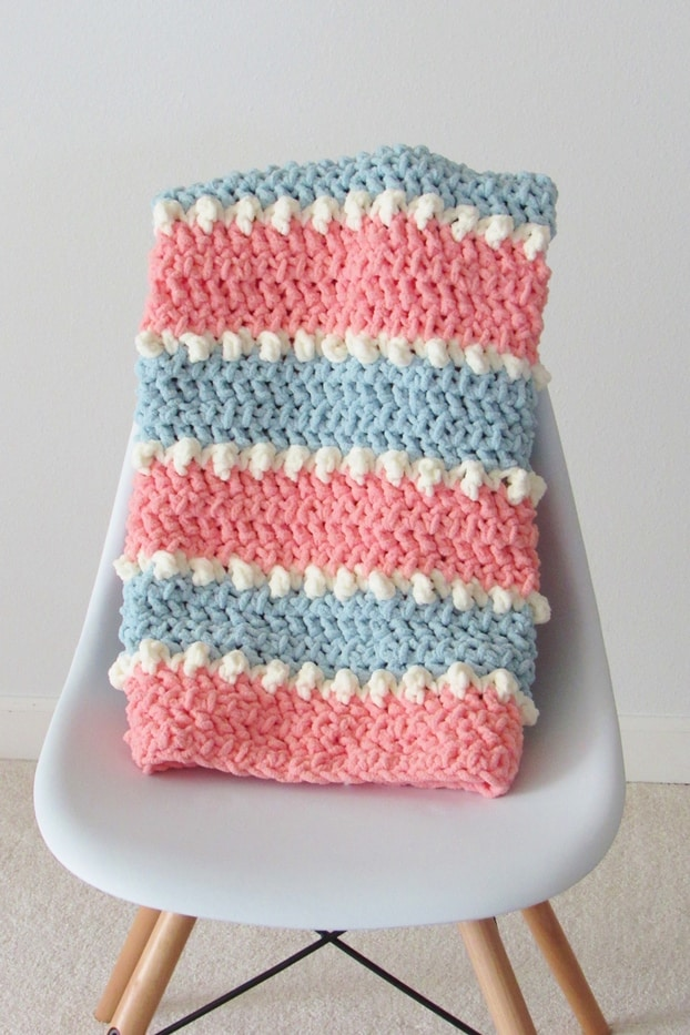 6 Hour Crochet Baby Blanket