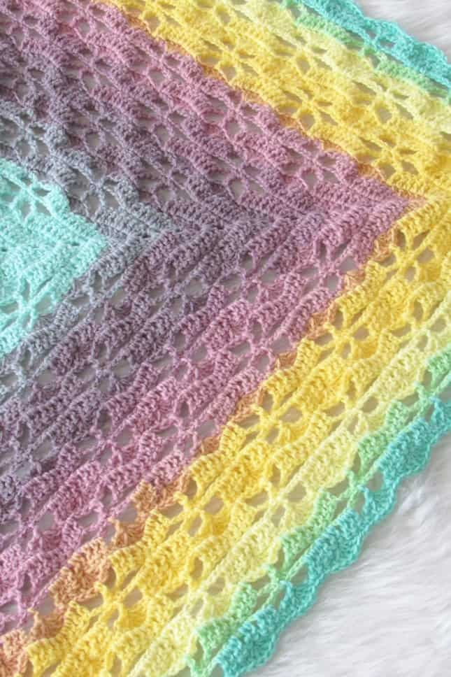 Crochet Shawl Made with Lion Brand Mandala