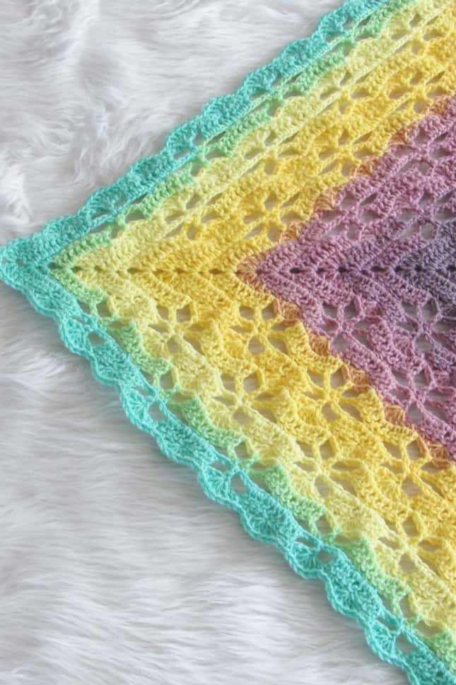 Crochet Shawl Closeup
