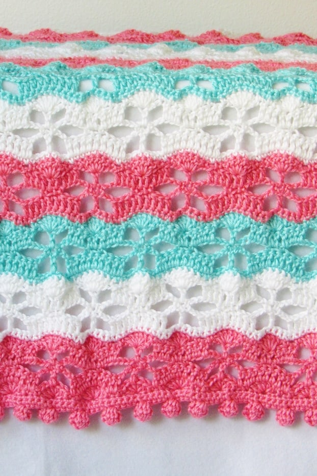Crochet Blanket Stitch Closeup