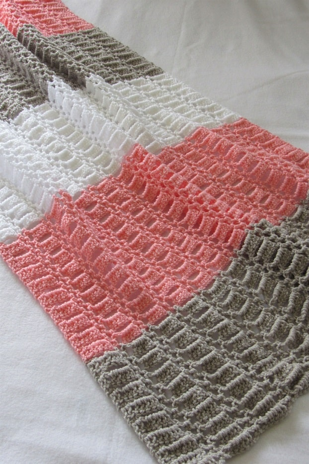 Lacy Crochet Baby Blanket