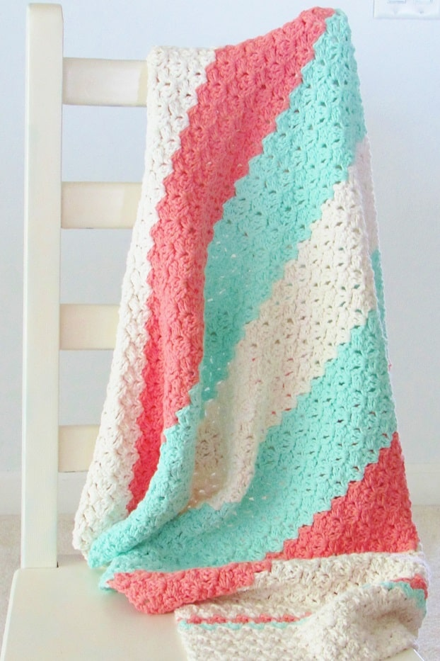 Easy Textured Crochet Blanket