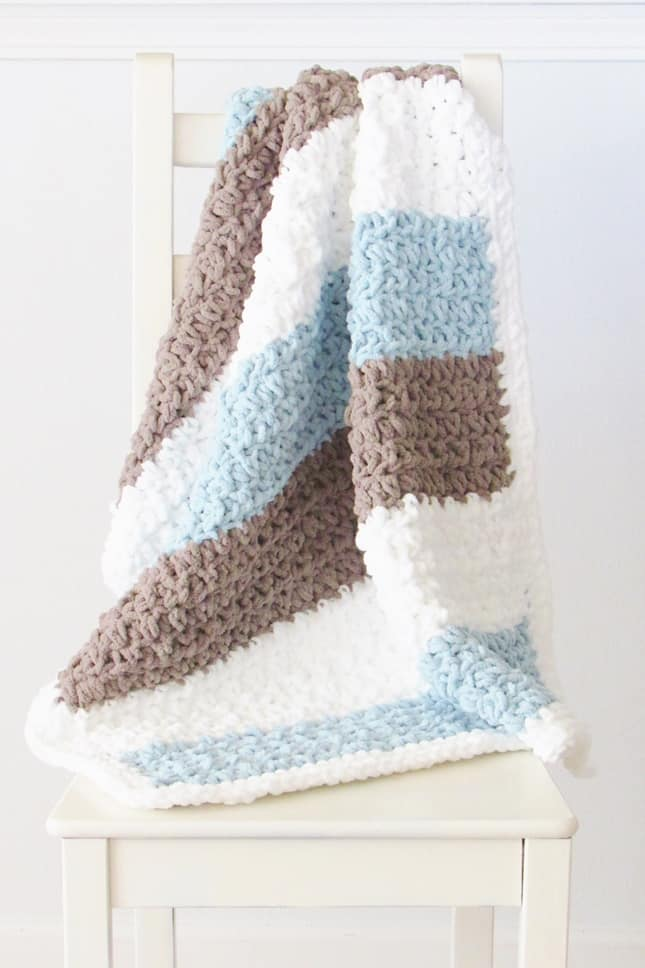 Crochet Textured Blanket