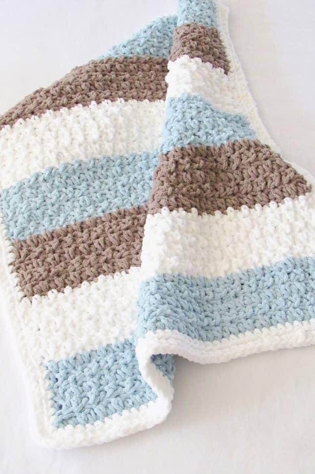 Crochet Baby Boy Blanket Free Pattern For Beginners Crochet Dreamz