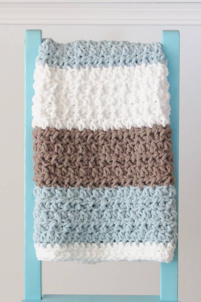 4 Hour Crochet Baby Boy Blanket Pattern