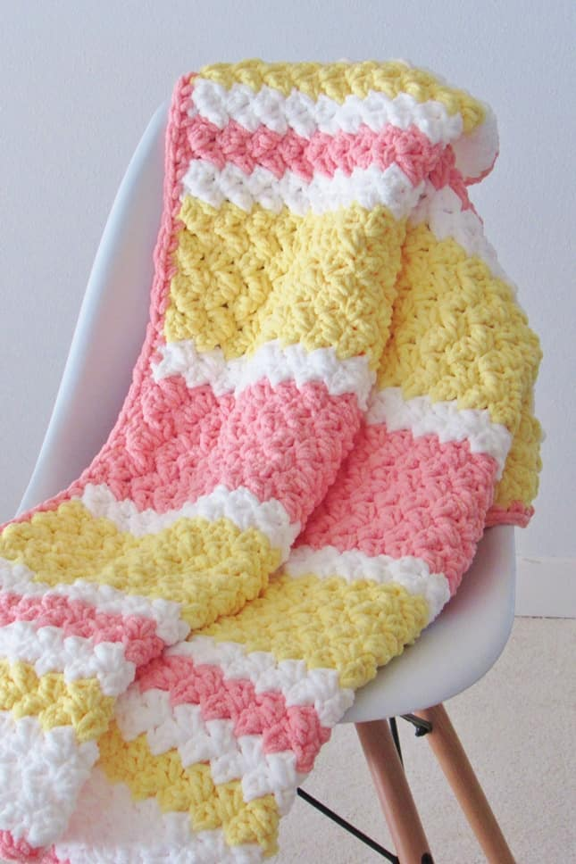 Chunky Crochet Blanket for Babies