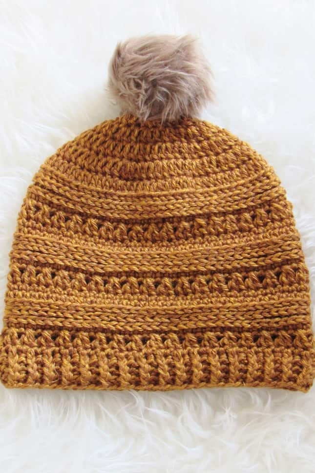 Crochet Hat in Mustard Color