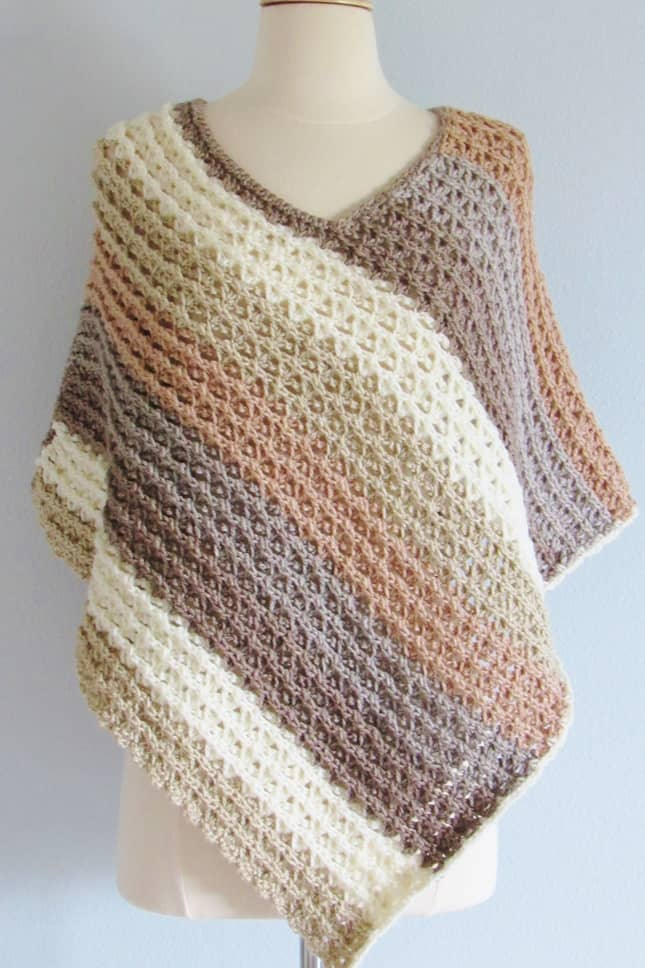 Crochet Textured Poncho