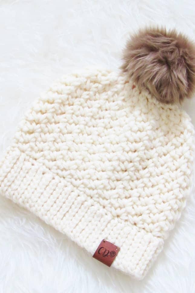 Crochet Beanie in Cream Color