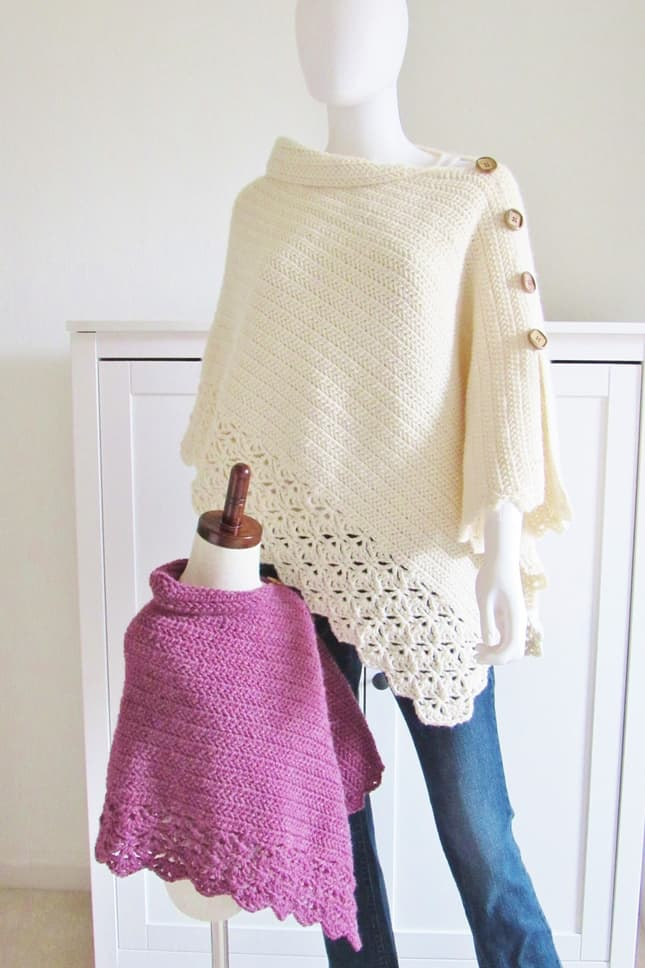 Kids Crochet Poncho Pattern