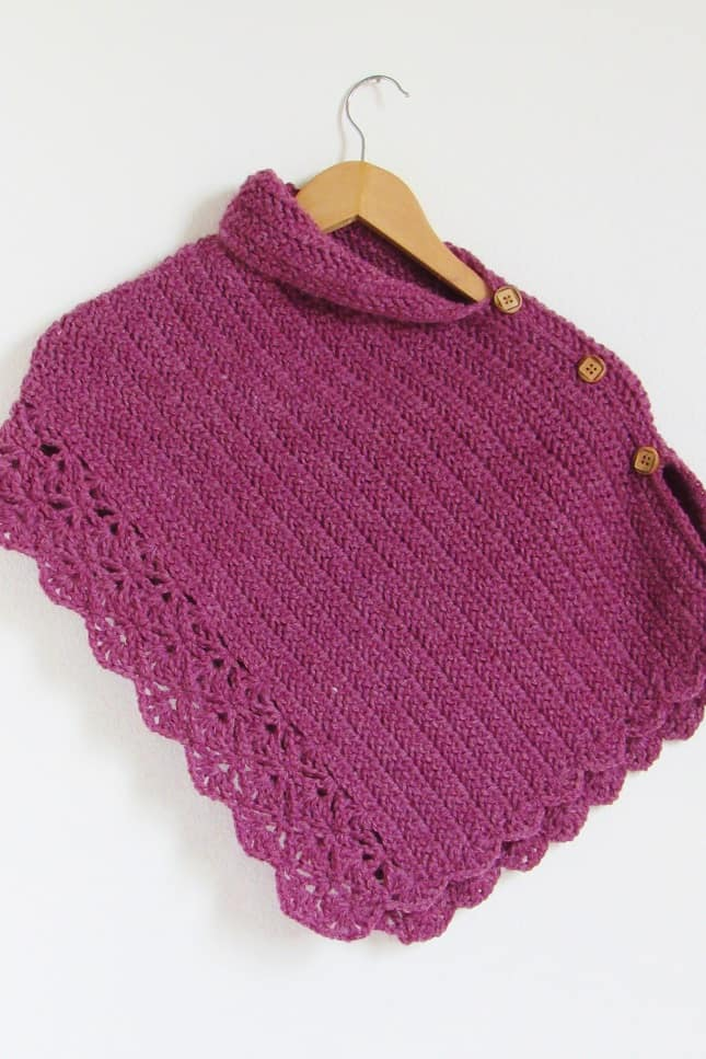 Crochet Poncho Pattern for Kids