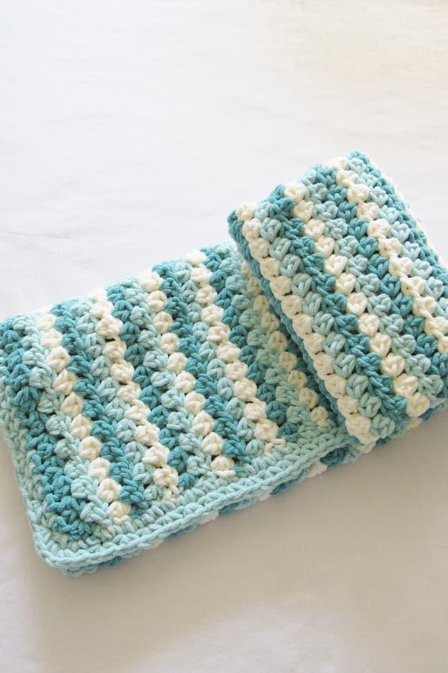 Crochet Granny Stripe Afghan