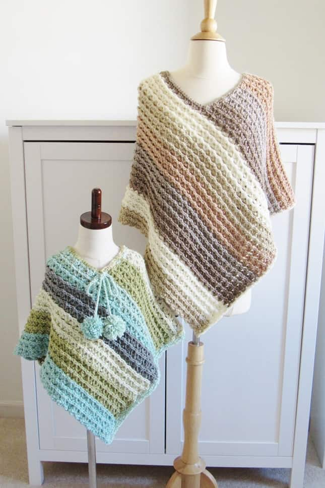 Free Mommy and Me Crochet Poncho Pattern