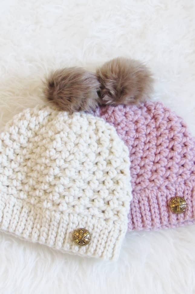 Textured Crochet Beanie Pattern