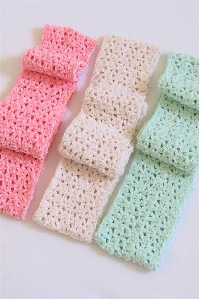 Crochet Infinity Scarf Closeup