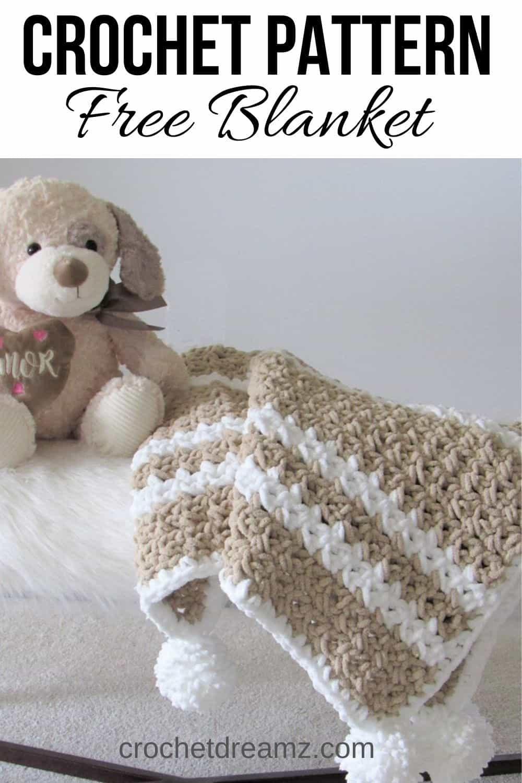Quick Crochet Baby Blanket For Beginners Crochet Dreamz