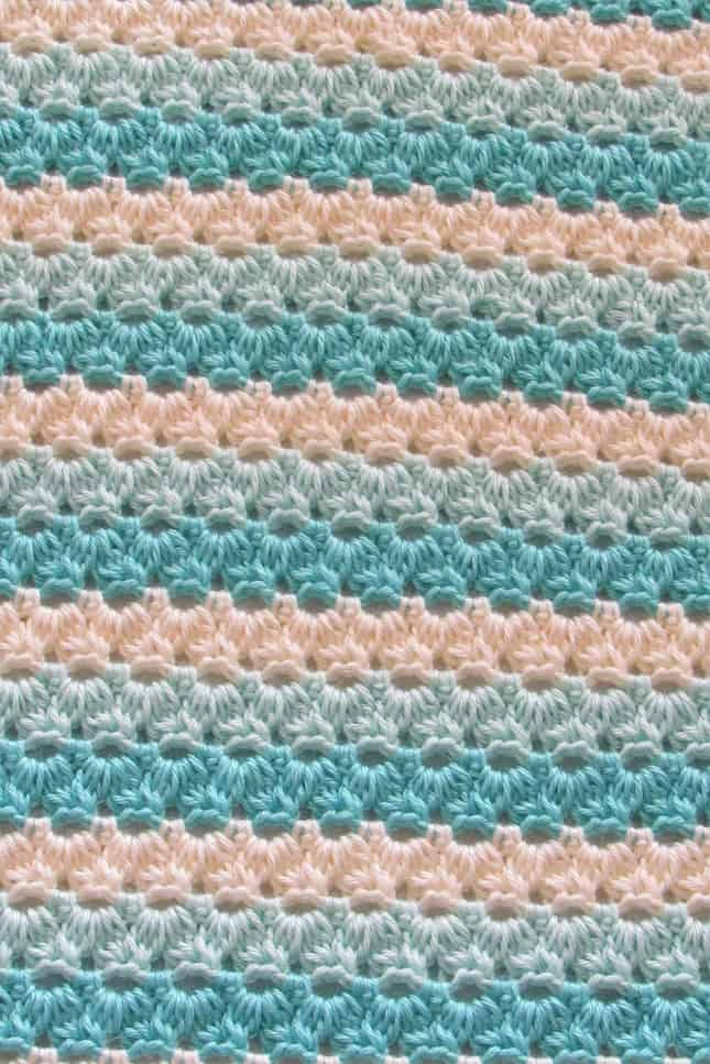 Crochet Afghan Stitch Closeup