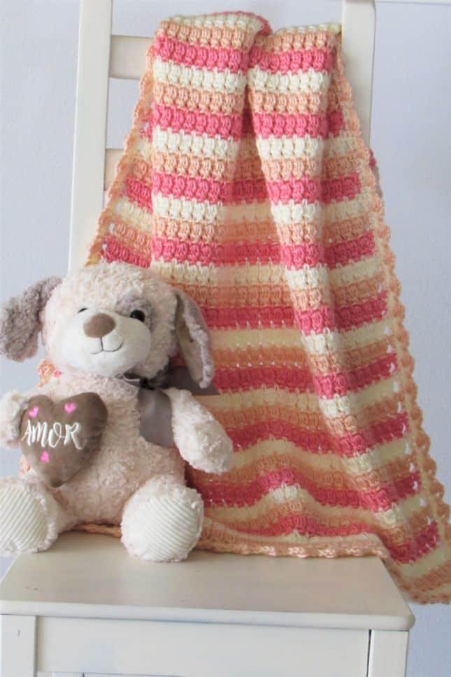 Crochet Cluster Stitch Baby Blanket
