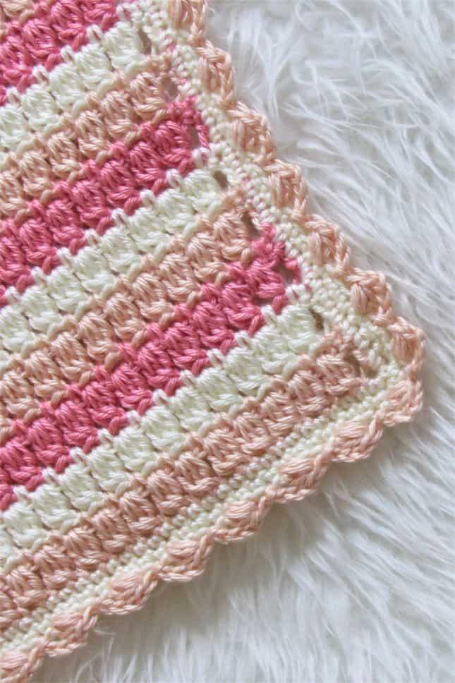 Crochet Cluster Stitch Blanket