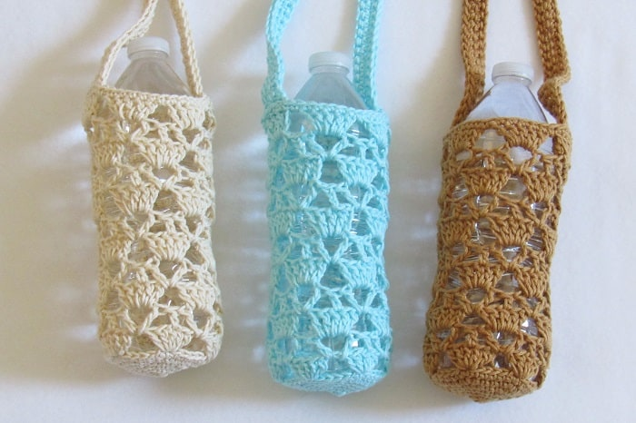 Crochet Water Bottle Bag