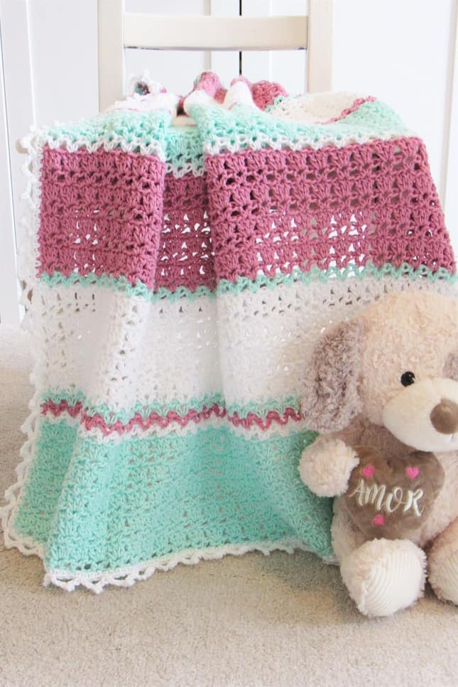 Crochet Cotton Baby Blanket